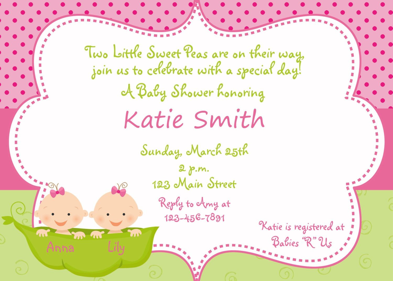 Twins baby shower | Baby Shower | Pinterest | Shower invitations ...