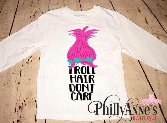 Trolls shirts, girls trolls outfit, poppy and branch shirt, troll