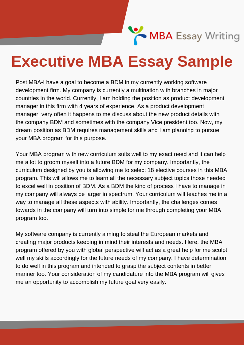 Emba essay