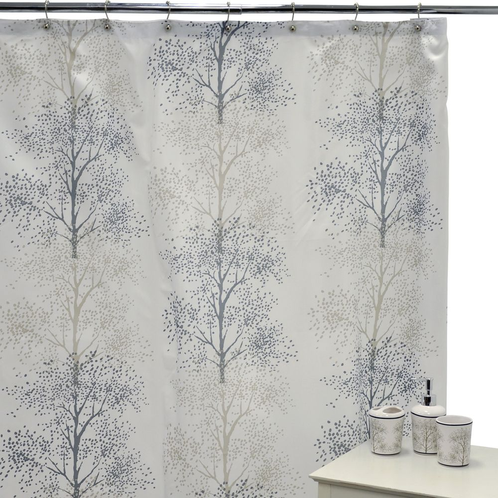 Enchanted Shower Curtain and Ceramic Bath Accessories 16-piece Set ...
