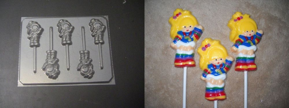 Smurfette Girl Smurf Lollipop Chocolate Candy Soap Crayon Mold