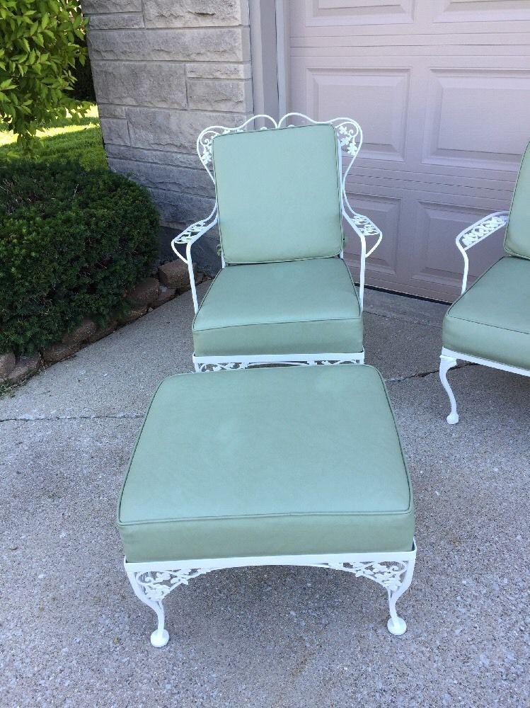 vintage woodard wrought iron furniture ebay