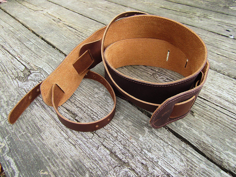 Leather Banjo Cradle Strap. Twin Saints