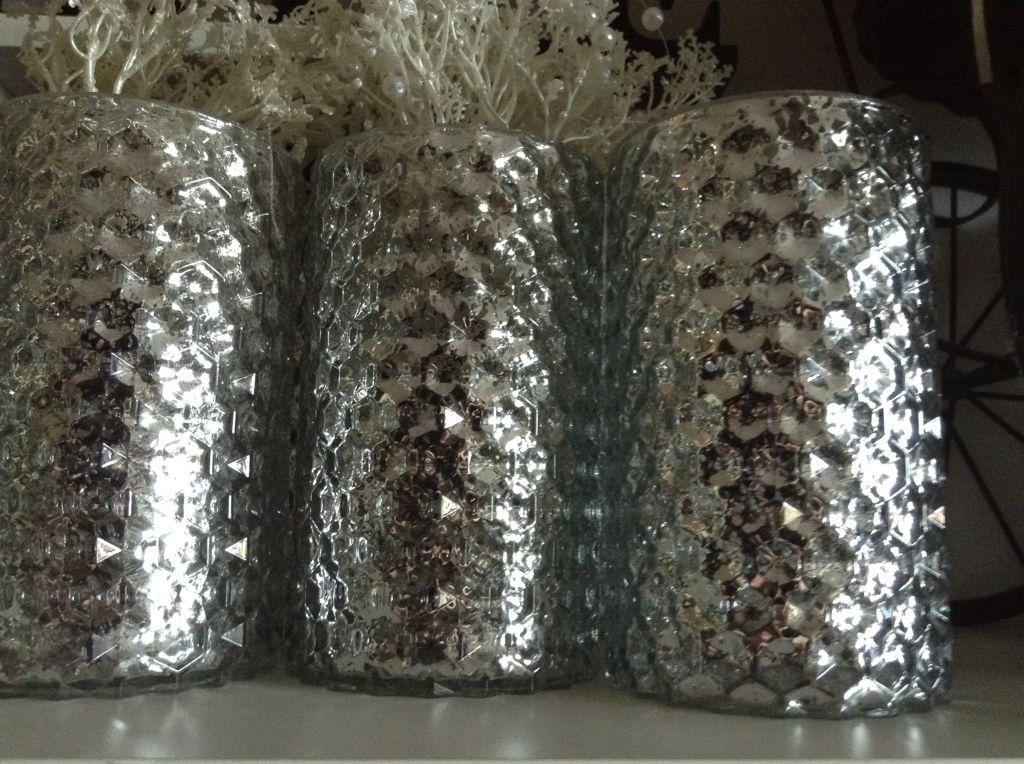 Mercury Glass Urn Vases Vintage Glass Birds Jars Bottles