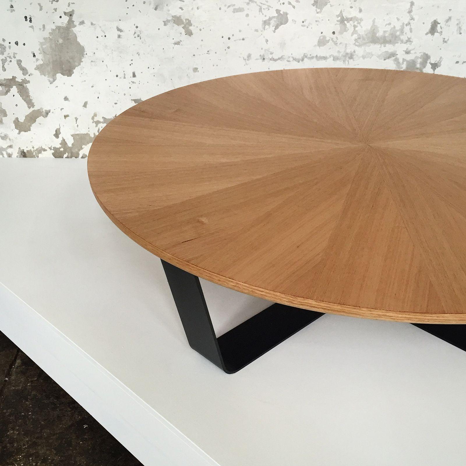 Simon Ancher Studio sunburst coffee table in Tasmanian oak