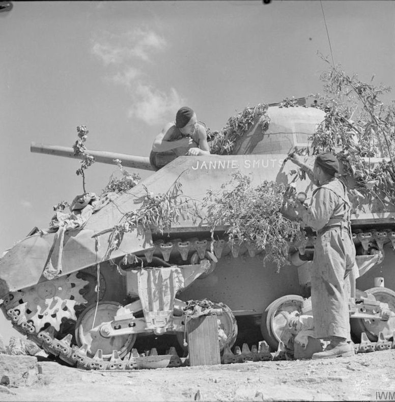 Troops Of The 6th South African Armoured Division With