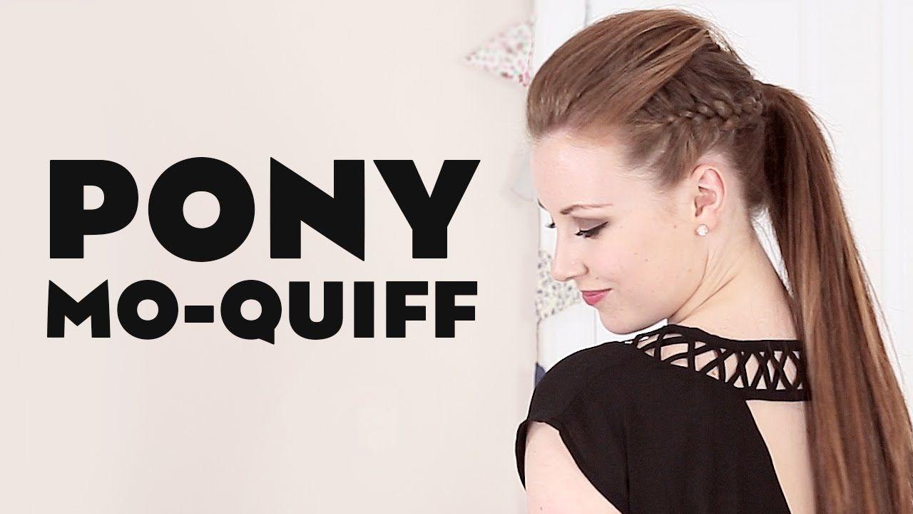 Mini quiff mohawk ponytail hair tutorial color guard pinterest