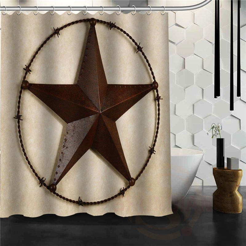 Western Texas Lone Star Cowboy Shower Curtain Western Shower