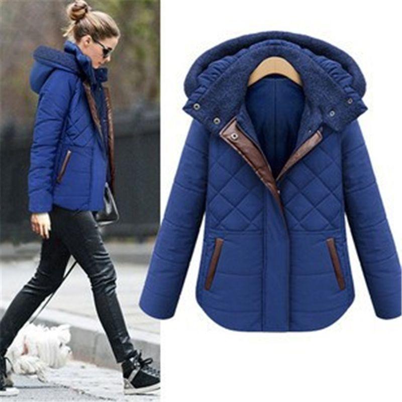 eBay Hot Sale! 2016 Fashion Leather Splice Winter Jacket Women ...