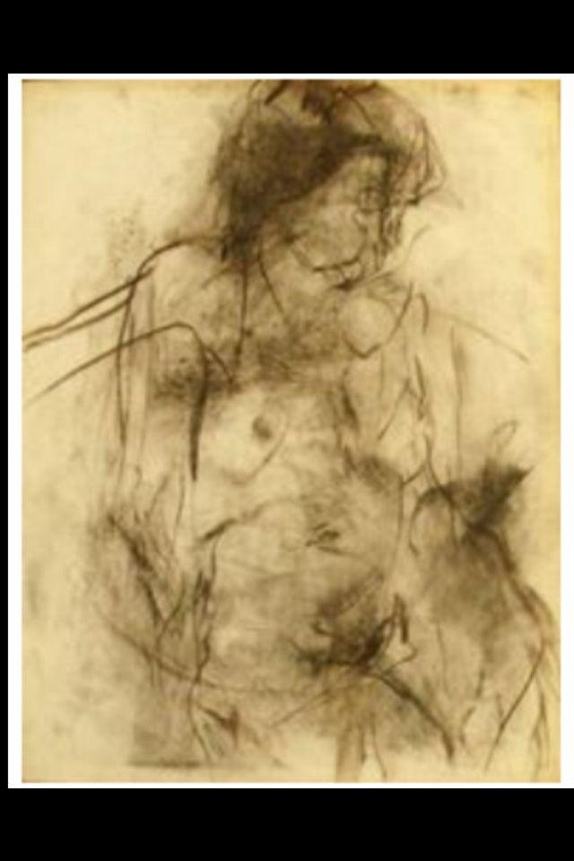 """Eugène Leroy - Sans titre"""", 1980/90 - Fusain - 65 x 50 cm (*)"""