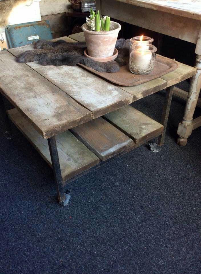 stoere tafel met oude planken hoffz pinterest