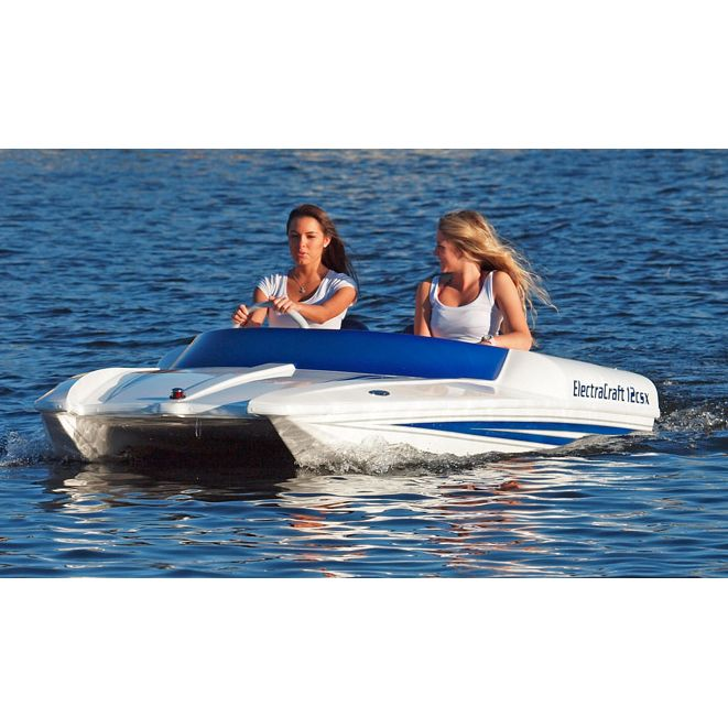 Electracrafts Two Person All Electric Boat Boat Plans Pontoon Boat Lake Boat