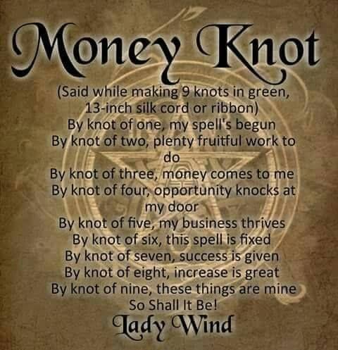 Money Knot spell $$$ | Magick for Abundance, Financial