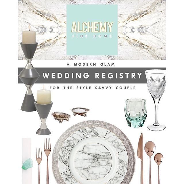 How will you design your new home together? Design it with the same panache and style you strive to live life with!  A modern glam registry for the stylish couple. Luxury tabletop, barware and home decor. #weddingregistry #homedecor #decor #interiordesign