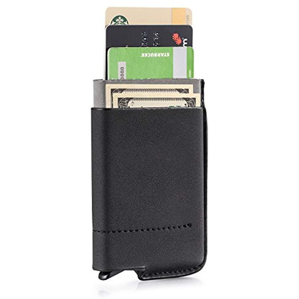 Business card cases rfid blocking wallet women men pop