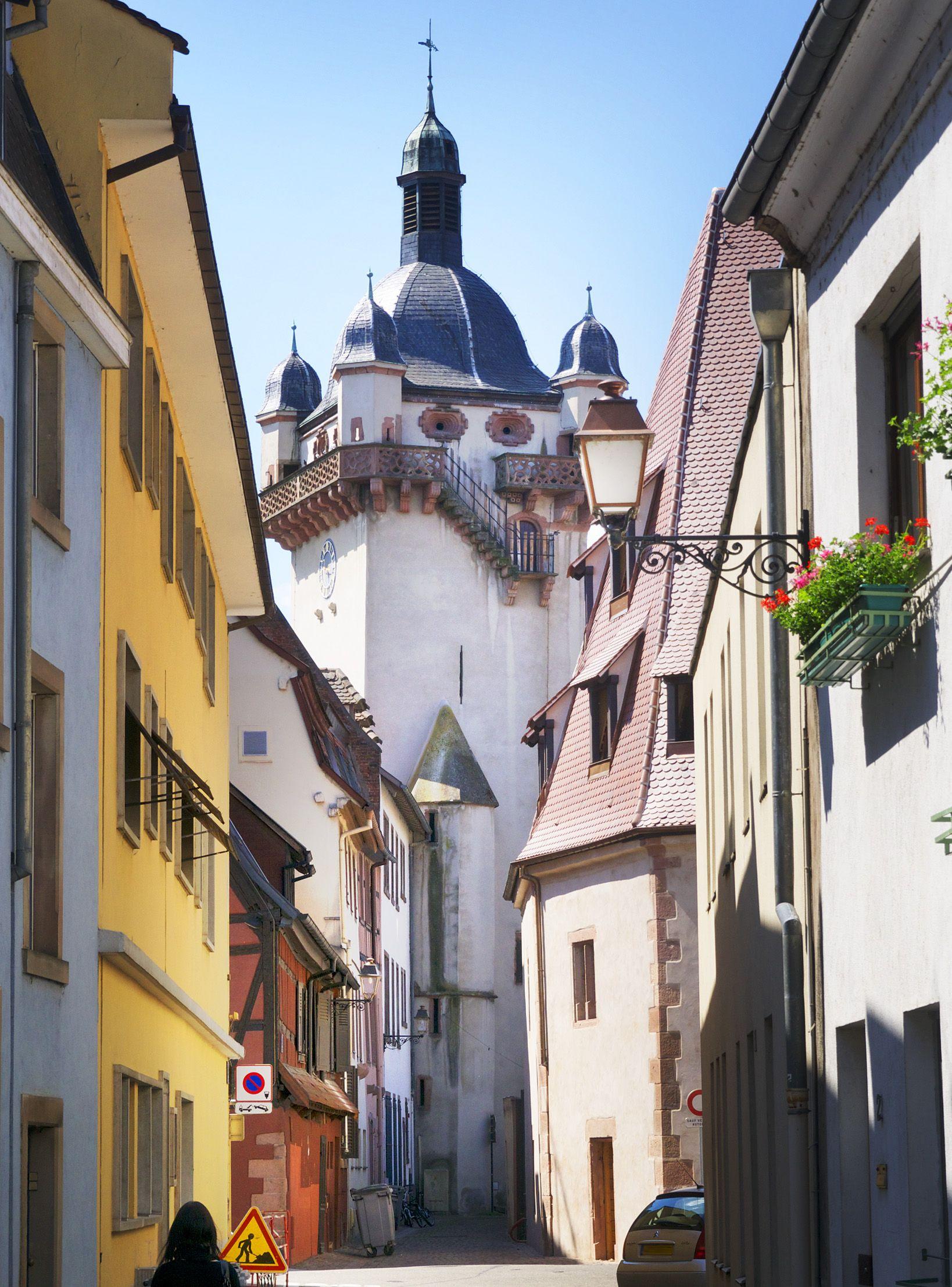 """Neuer Turm"" in Selestat, Alsace, früher Schlettstadt"
