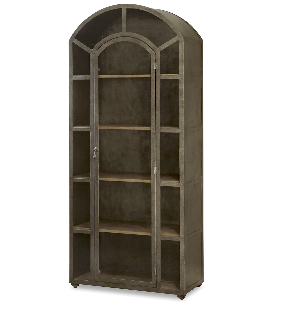Lovely French Modern Industrial Metal And Glass Curio Cabinet Ideas