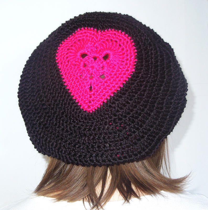 Heart Beret Crochet Pattern Heart Hat Crochet Heart Hat Valentine