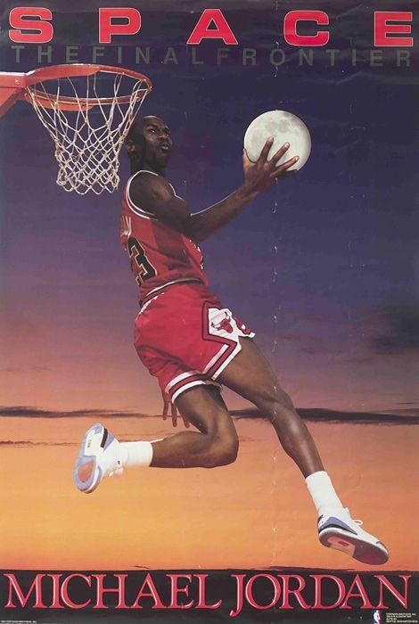 5f15d40b96d Michael Jordan- Space | Sports | Sports, Jordan poster, Basketball