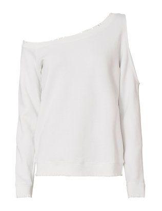 623b9393994b1e RtA Willow Cutout Sweatshirt Off One Shoulder Tops