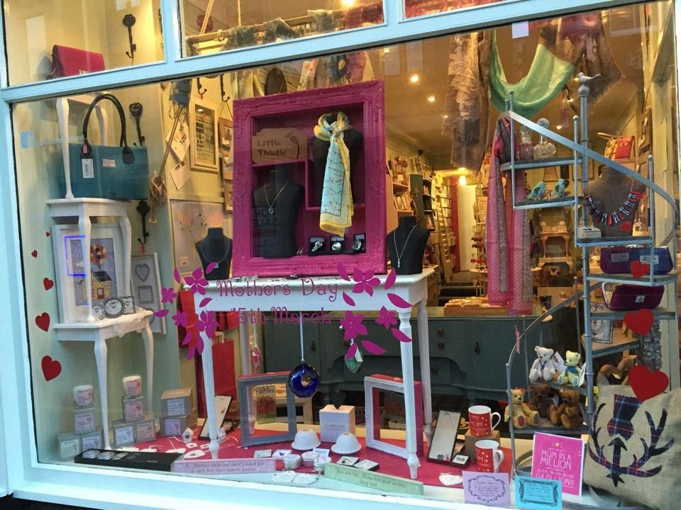 Mothers day window display www facebook com littlethistlescotland