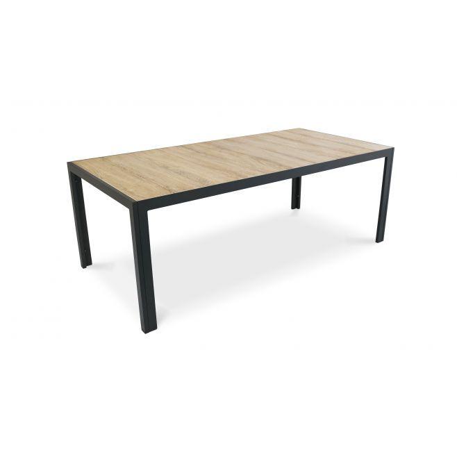 Table de jardin aluminium et céramique | Table de jardin ...