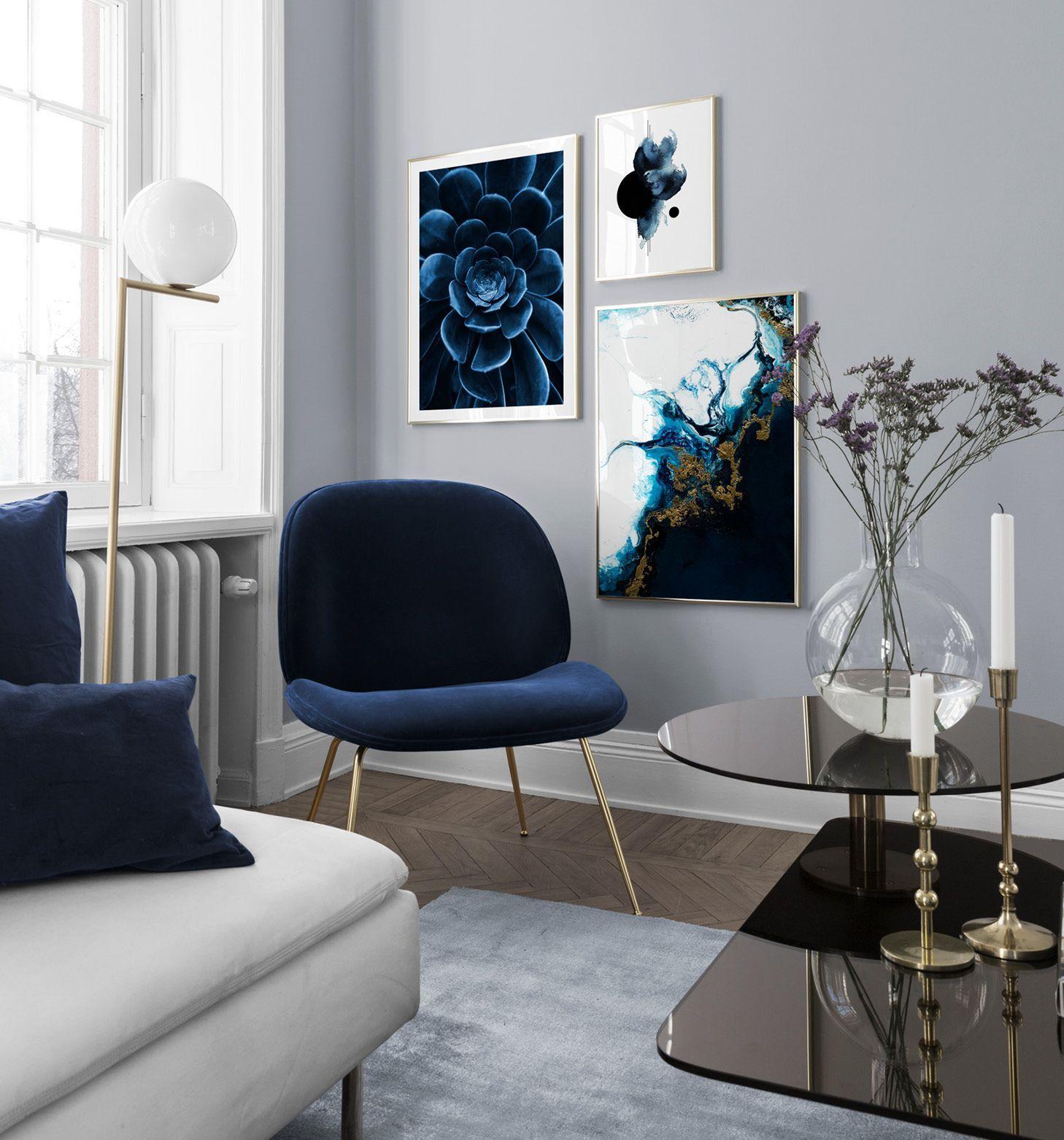 Inspiration für schöne Wohnzimmer Bilderwand mit Postern | Desenio #collagewalls