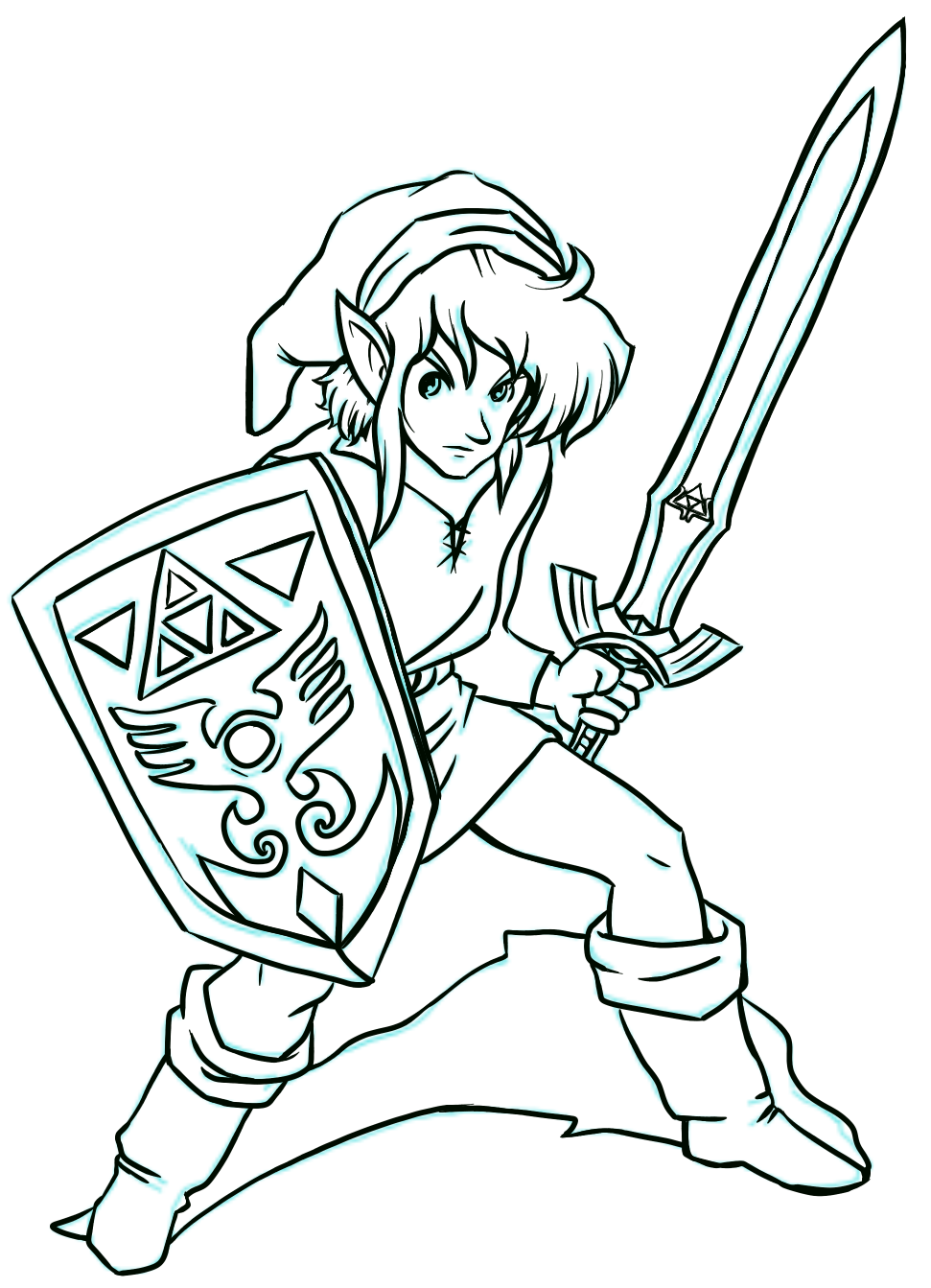 Link To The Past Line Art Visit Blazezelda Tumblr Com Coloring Pages Line Art Colouring Pages