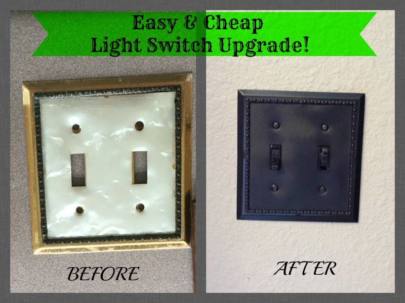 Easy Cheap Light Switch Upgrade Light Switch Plates Easy