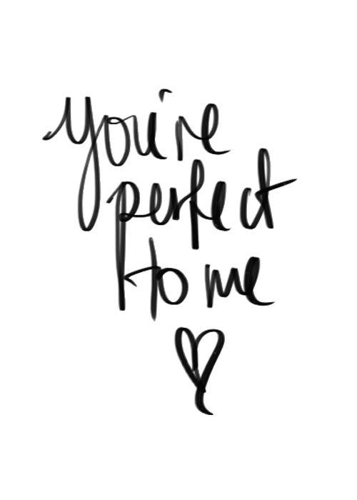 Imagen de love, perfect, and quote