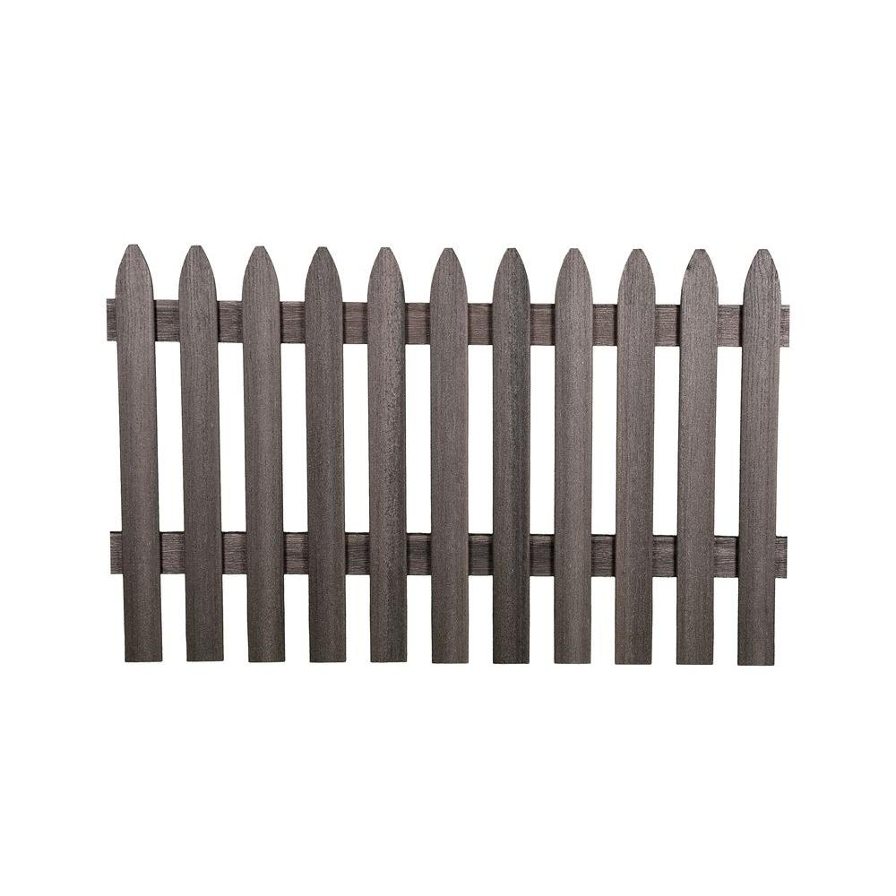 3-1/2 ft. H x 6 ft. W Cape Cod Gray Gothic Composite Fence Picket ...