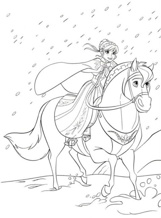 Frozen Horse Coloring Pages Frozen Coloring Pages Coloring Pages