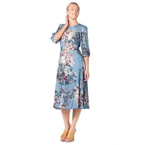Abiti Da Sera Qvc.Mood Atelier Abito Lungo Made In Italy In Raso Fantasia Fashion