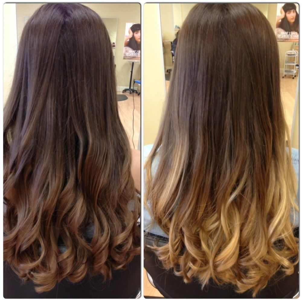 Brown To Blonde Ombre Medium Hair Google Search Hair Nails