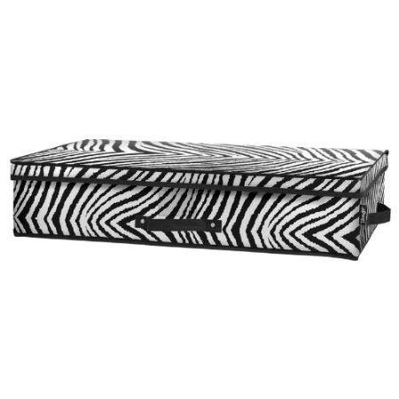 Tango Folding Under-Bed Storage Box-Zebra