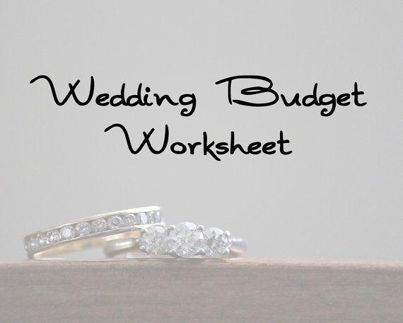 Wedding Budget Worksheet and Vendor Checklists - Printable - Planner