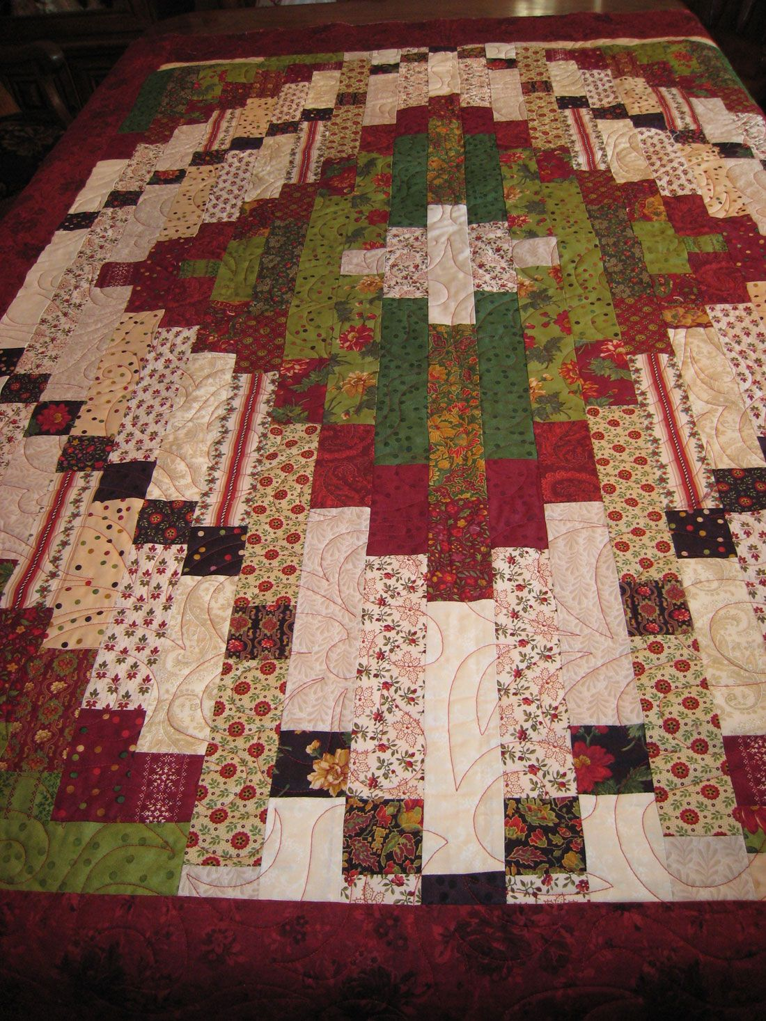 Christmas Quilt Made From Jelly Roll Amy Fahey S Quilts