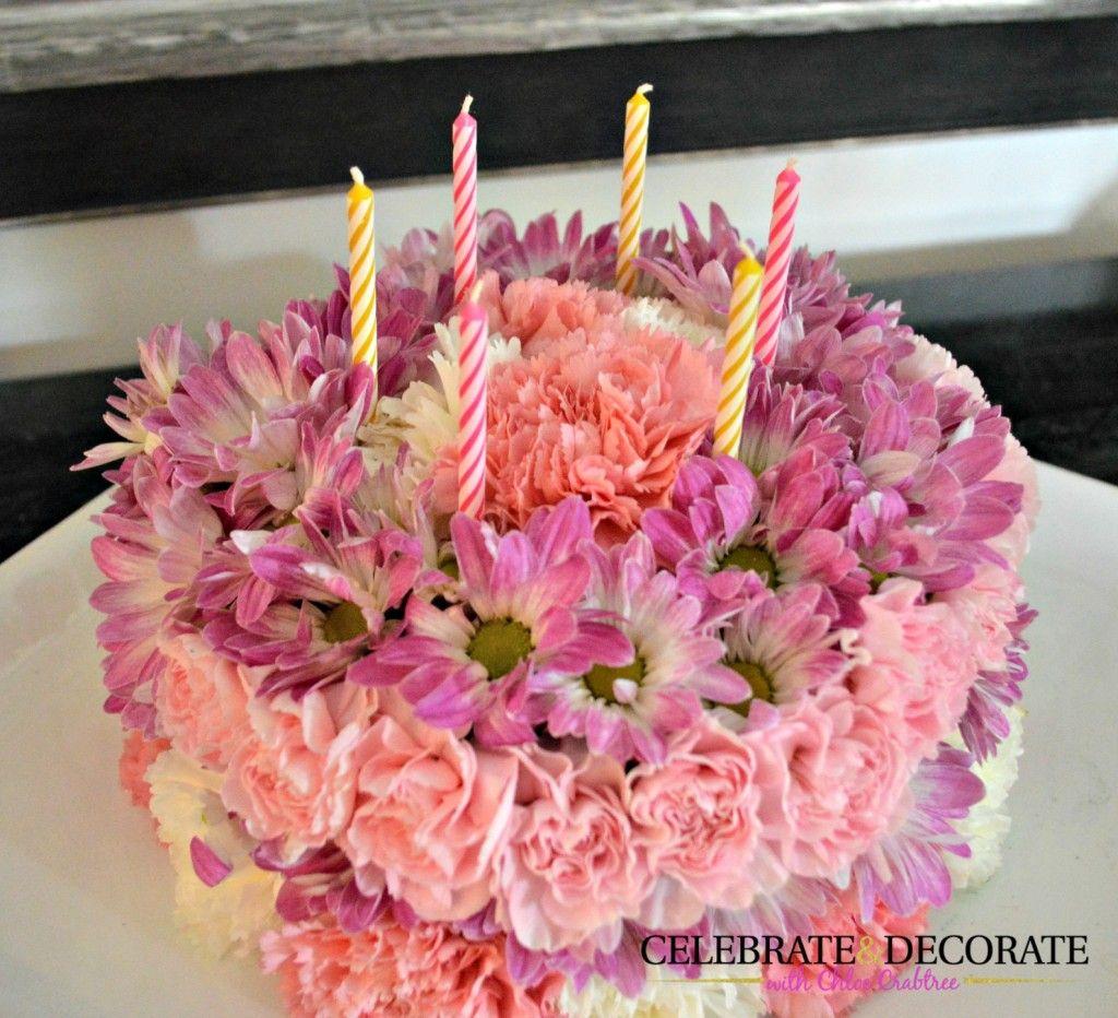 How to Make a Floral Birthday Cake Birthday cakes Cake and Birthdays