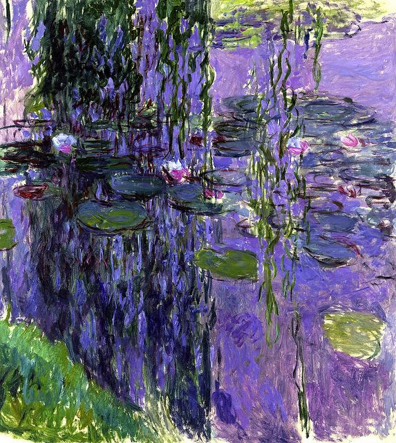 Claude Monet - Water Lilies, 1919, pined from jacqueline vasseur