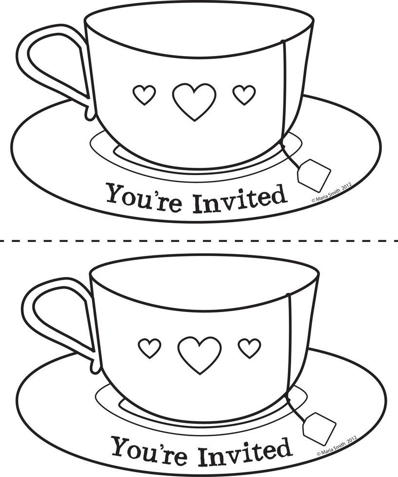 Pics For Teacup Coloring Page xcaras Pinterest Teacup and