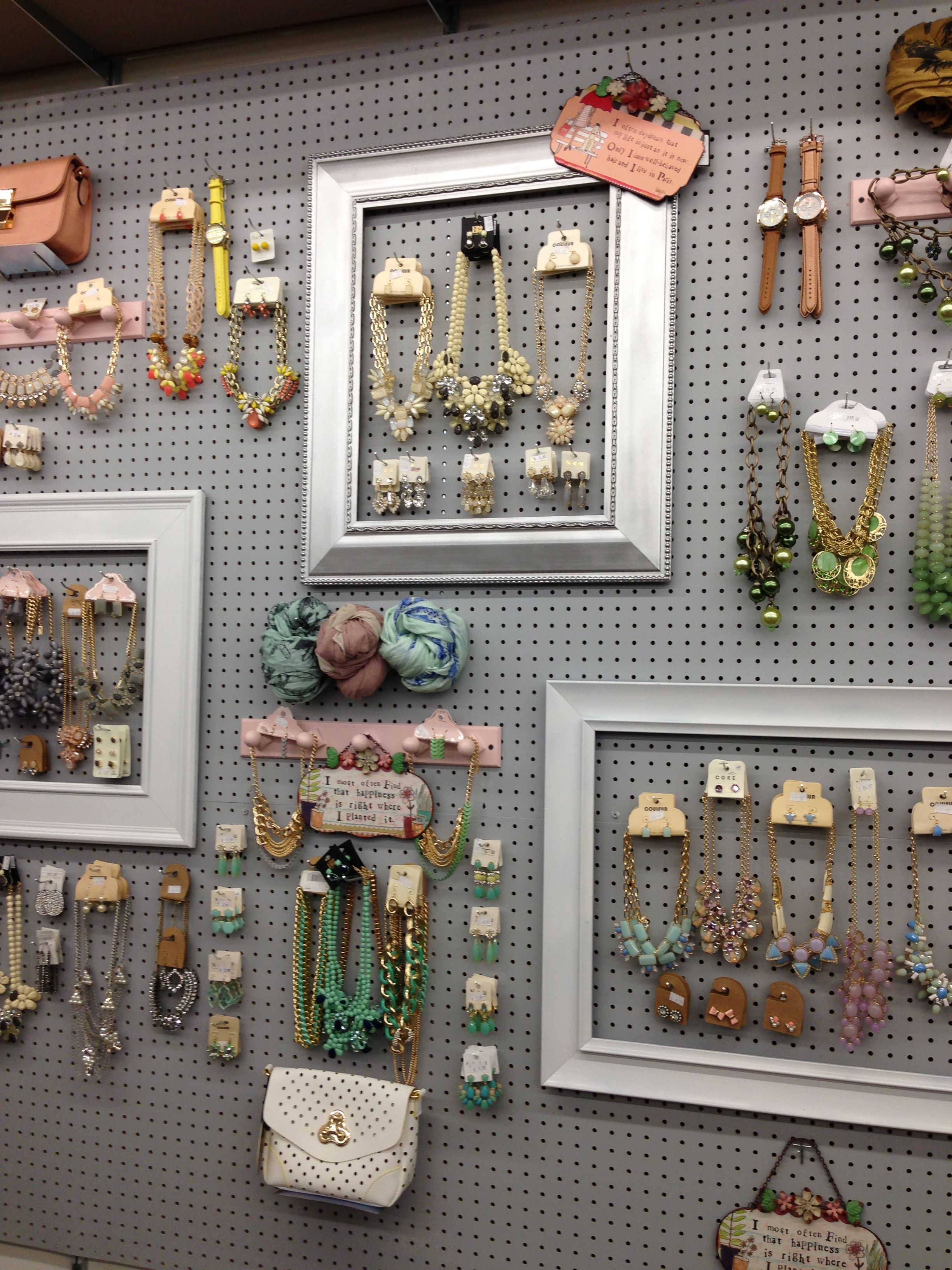Our New Addition Peg Board Jewelry Display Blonde
