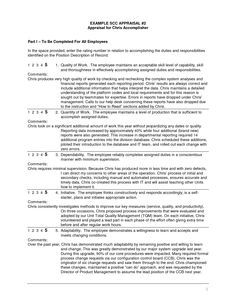 Employee Review Template Word Google Search Peached  Employee