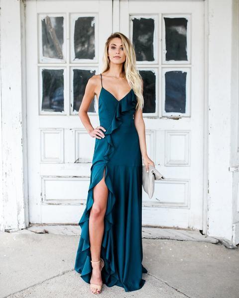 f15bfb933ff PREORDER - Cool Waters Maxi Dress - Dark Teal