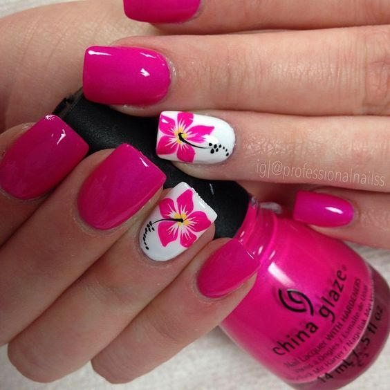 45 Eye Catching Designs For Summer Nails Pink Gel Nails Nails