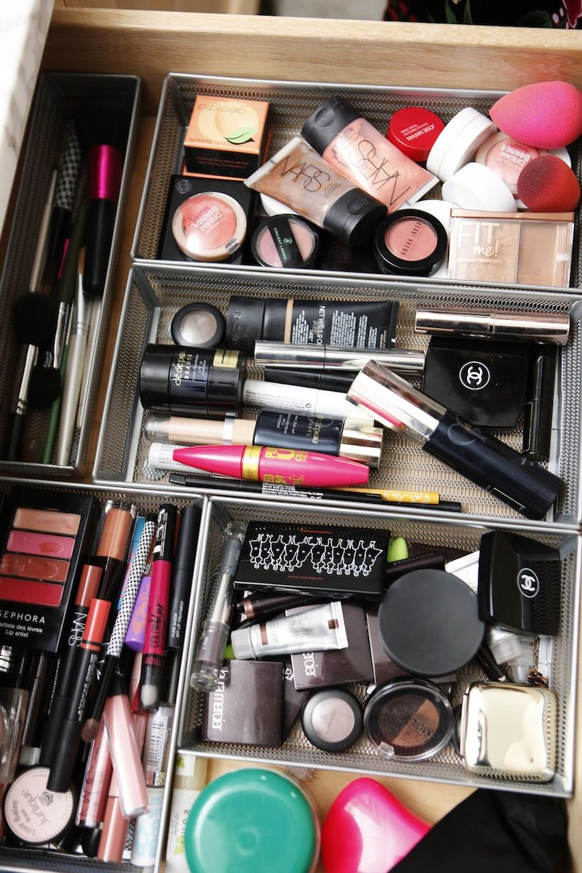 Getting Dressed With Emma Heming Willis Makeup drawer