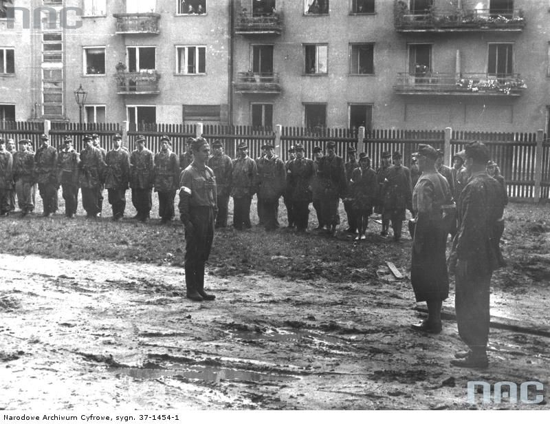 Soldiers Of Battalion 'Pięść' Assembled In The Garden Of The
