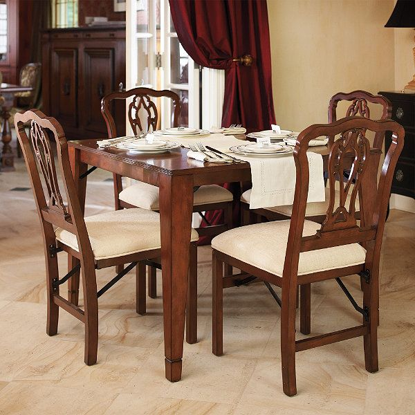 Folding Table and Dining Chairs   Dining chairs, Table and ...