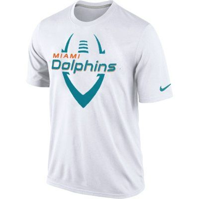 size 40 b456e 5488a Nike Miami Dolphins Legend Icon Performance T-Shirt - White ...