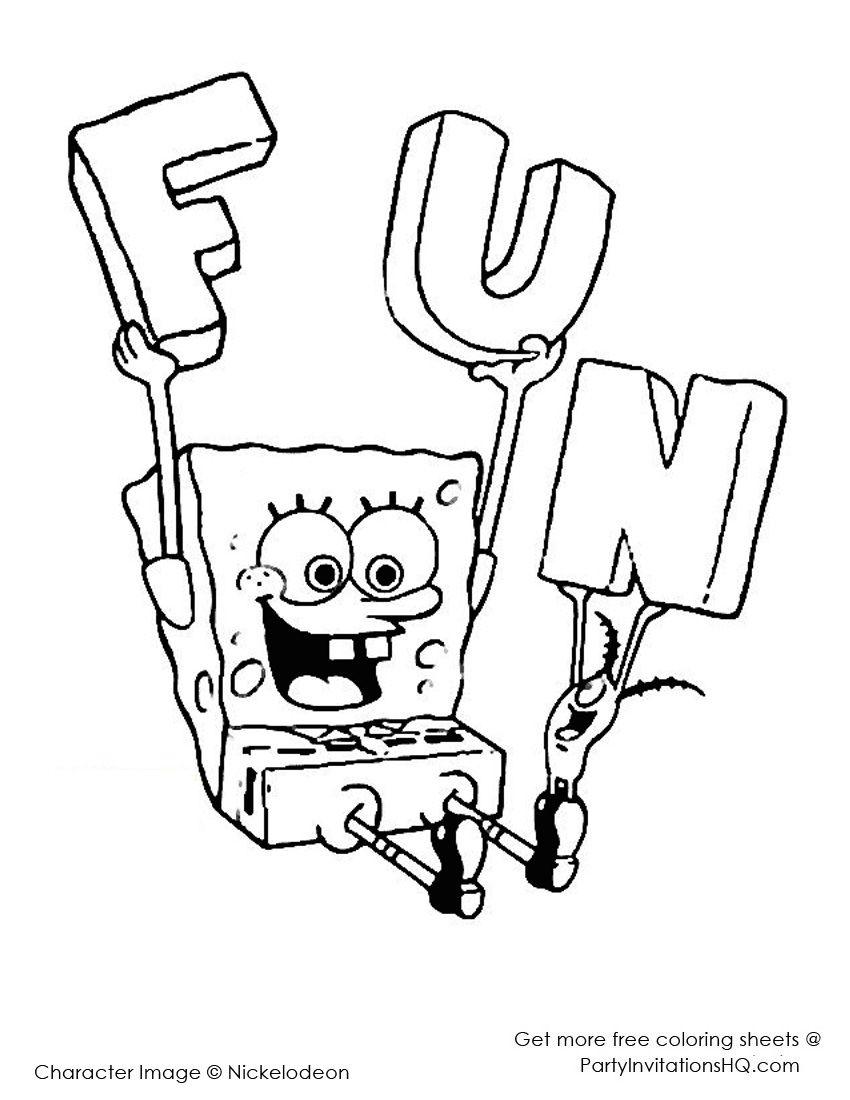 spongebob coloring pages spongebob coloring pages coloringpages
