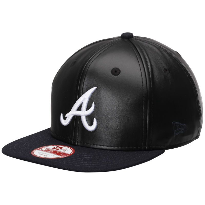 low priced 5eb3b bf0a8 Atlanta Braves New Era Smoothly Stated Original Fit 9FIFTY Adjustable Hat -  Black Navy